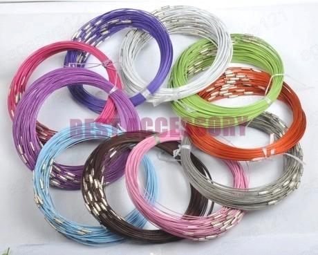 conew_memory wire cord necklace choker00125