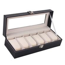 Window Organizer Watch Box for Save 6 Wrist Watches Box Storage Jewelry Display Case Storage Holder