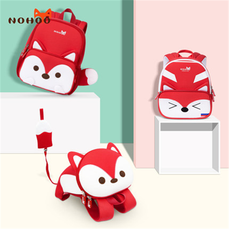 NOHOO High Quality Kids Backpack Girls Cartoon Kids Waterproof Toddler Backpack 3-7 Year Old Children's School Bags 2019 New Bag