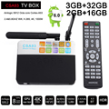 3 GB 32 GB Android 6.0 Caixa de TV inteligente 2G 16 GB Amlogic Octa S912 núcleo CSA93 Streaming Media Player Inteligente Wifi BT4.0 4 K TV box mini pc