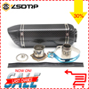 ZSDTRP Universal Motorcycle Dirt Bike Exhaust Escape Modified Scooter Akrapovic Exhaust Muffle Fit For Most Motorcycle