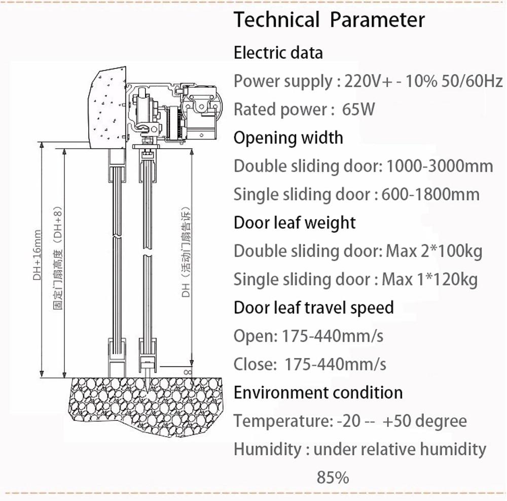 Olide European Style Automatic Sliding Door Operator (12)