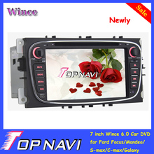 "Promotional 7"" double din Newest Wince 6.0 car dvd player with gps for Focus/Mondeo/S-max/C-max/Galaxy"