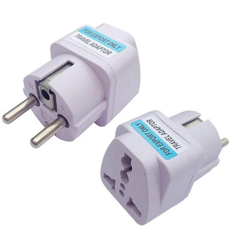Converter Eu-Socket-Plug Travel-Charger-Adapter Universal UK White AU US To