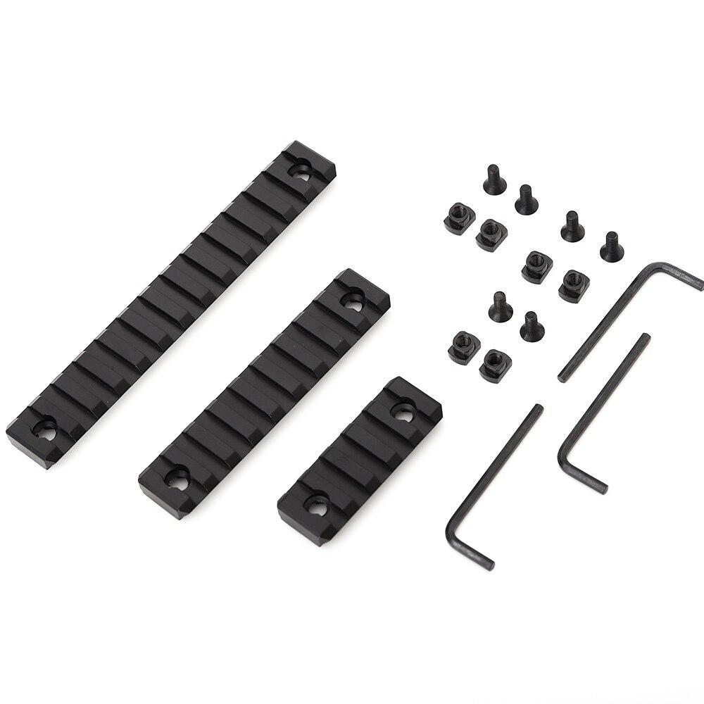 AR15 rail Aluminum M-Lok 5 9 13  Slot Picatinny/Weaver Rail Handguard Section set AR-15 MLOK 20mm Picatinny