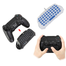 цена на Mini Bluetooth Wireless Message Keyboard Joystick Chatpad for Sony Playstation 4 PS4 Slim Pro Gaming Controller Gamepad