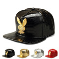 New Korean rabbit diamond alloy flat brimmed hat baseball cap hiphop hip-hop hip hop hat wholesale