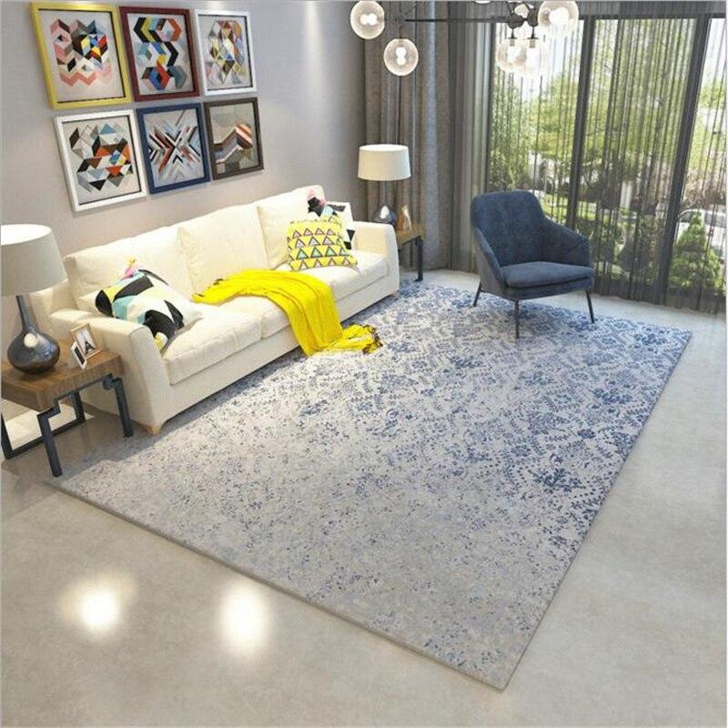 Simple grand Style nordique moderne doux tapis pour salon chambre enfant jouer délicat tapis maison étage mode étude chambre tapis