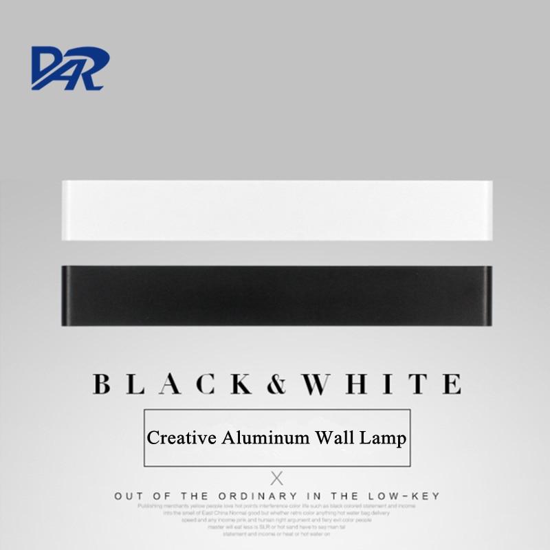 Kreativní design Černobílý hliník LED nástěnné světlo Vysoce kvalitní koupelnová lampa Moderní zrcadlo Přední lampa Apliques Pared Wandlamp