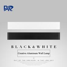 Creative Design Black/White Aluminum LED Wall Light High Quality Bathroom Lamp Modern Mirror Front Lamp Apliques Pared Wandlamp