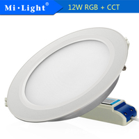 MIlight FYT066 12W RGB+CCT LED Downlight Recessed Round LED Lamp Light Indoor LED Bulb Lighting AC110 240V