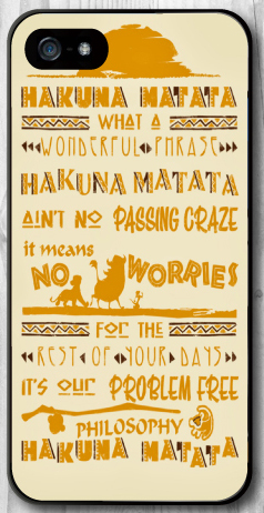 Meaning Of Hakuna Matata Case for iPhone 4 4S 5 5S 5C SE 6 6S 7 Plus Samsung Galaxy S3 S4 S5 Mini S6 S7 S8 Edge Plus A3 A5 A7