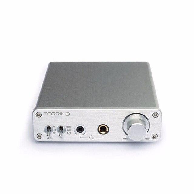 Topping A30 Рабочего Мини Наушников Усилитель TPA6120 Hi-Fi Музыка Мощность Аудио Усилитель Домой 3.5 мм и 6.35 мм Выход на Наушники 110 В 220 В