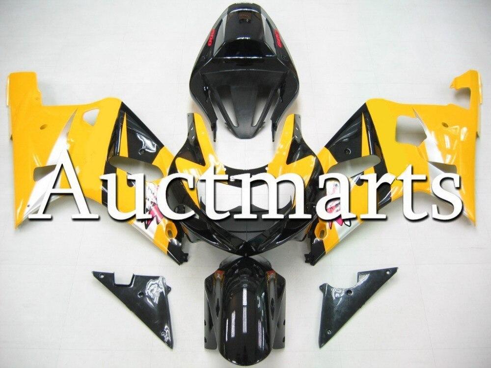 Fit for Suzuki GSX-R 750 2001 2002 2003 ABS Plastic motorcycle Fairing Kit Bodywork GSXR750 01 02 03 GSXR 750 GSX R750 CB10 injection molded abs plastic bodywork frame fairings kit for suzuki gsxr 750 yellow black gsxr racing 2000 2001 2002 2003