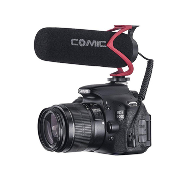 Ulanzi Portable On Camera Microphone Interview Conference Living Record Video Mic Microphone for Canon Nikon DSLR