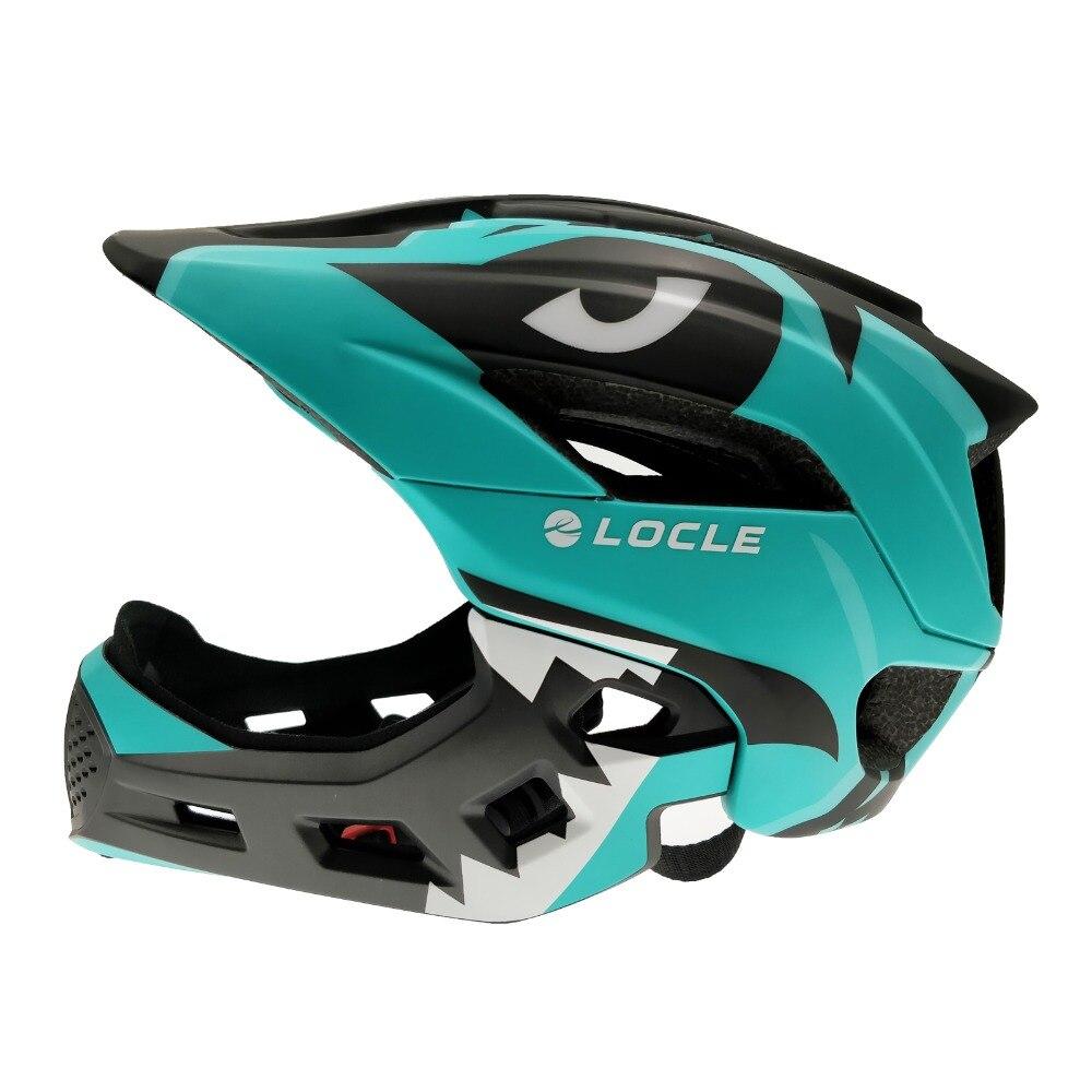 LOCLE 3-15 Years Old Full Covered Kid Bicycle Helmet Balance Bike Children Full Face Cycling Helmet Roller Skating Skiing Helmet