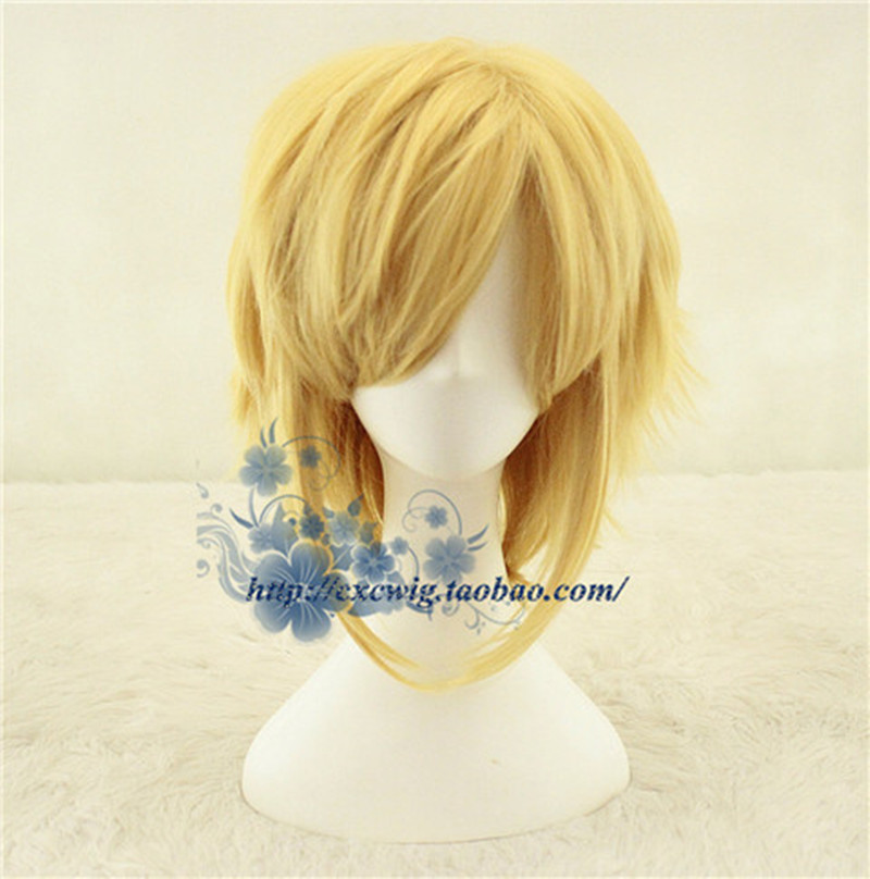 The Legend of Zelda Link Godl wig Cosplay Wig Link Role Play gold hair with hair net