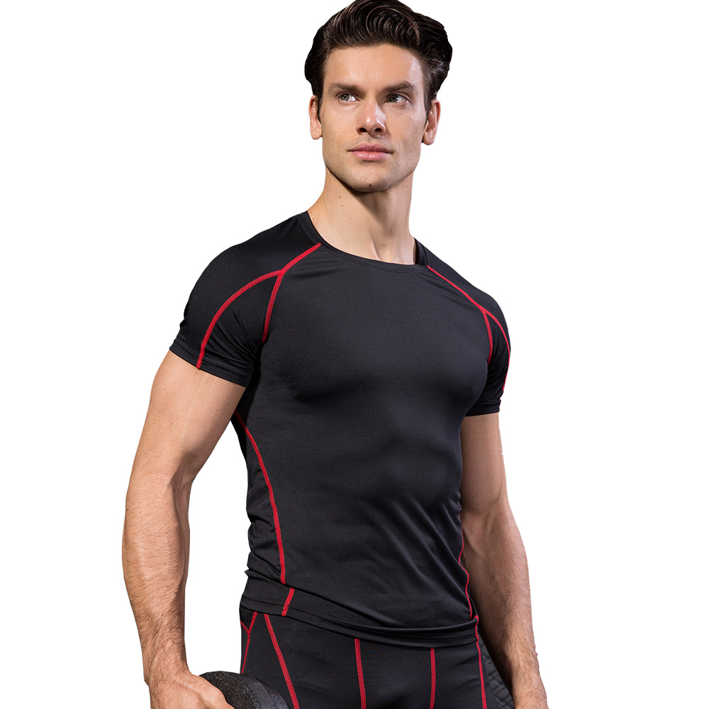T-shirts Running T-shirts 2019 Workout Shirt Men Quick Dry Fit T Shirt Man Breathable Gym Running Fitness Tshirt Workout Training Tee Shirt Sport Wear