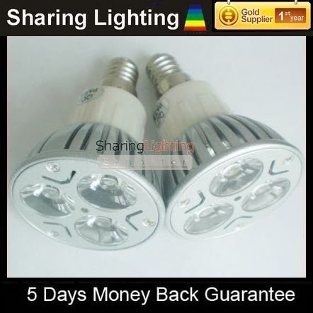 [Sharing Lighting] High power E14 3W LED light bulb with 100-240V