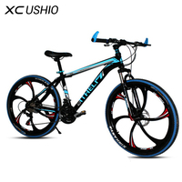 Mountain Bike 26 Inch 21 Speed Carbon Steel One wheel Variable MTB Bicycle for Adult Student High Quality Double Disc Brake
