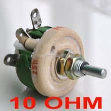 (10 pcs/lot) 25W 10 OHM High Power Wirewound Potentiometer, Rheostat, Variable Resistor, 25 Watts.
