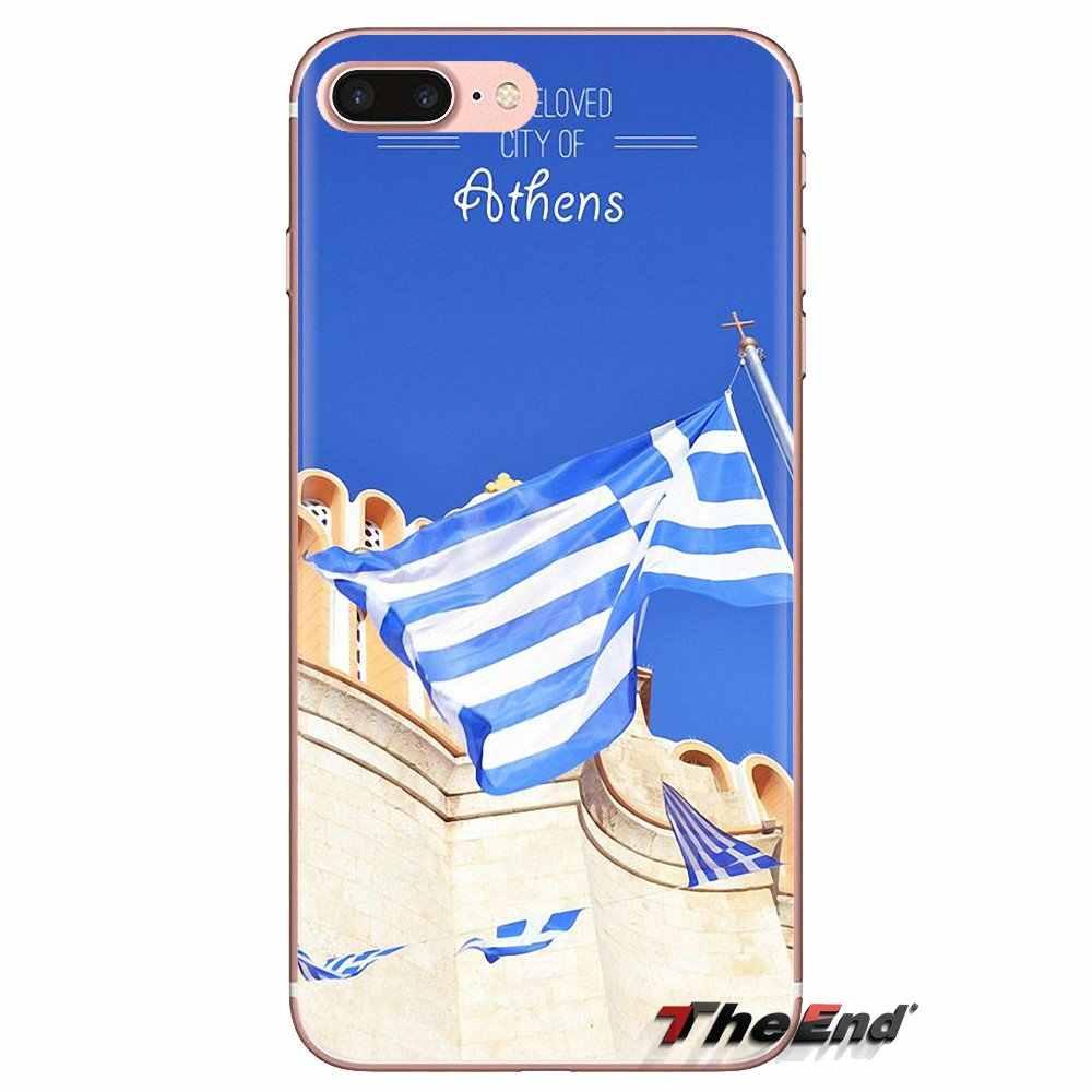 شفافة لينة غطاء حقيبة GR اليونانية اليونان العلم راية لسامسونج غالاكسي S3 S4 S5 البسيطة S6 S7 حافة S8 s9 S10 زائد ملاحظة 3 4 5 8 9