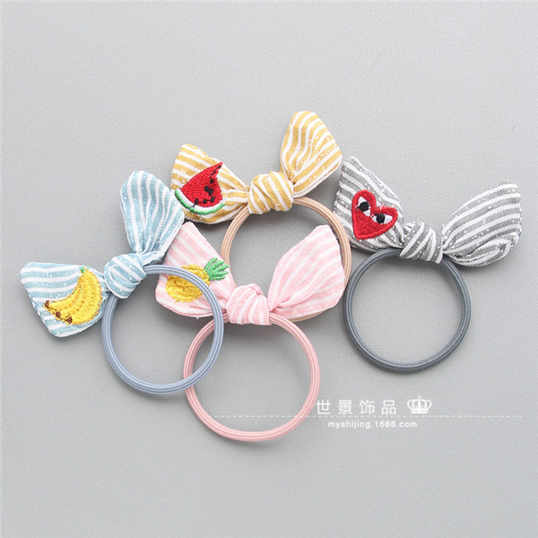 Handmade Cotton Bunny Princess Hair Accessories For Girls Hair Clip Flower Crown Hairpin Elastic Hair Band Headbands 4