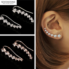 SEVENSTONE 2019 New Fashion Reiki Silver Alloy Korean Style Jewelry for Women Foreign Trade Wholesale Long Bride Earrings Angel