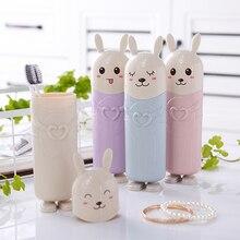 Милая зубная щетка кролик держатели зубной пасты для путешествий портативная зубная щетка чехол зубная щетка с героями мультфильмов коробка контейнер для ванной комнаты
