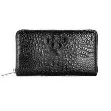 gete 2017 new hot free shipping crocodile wallets long men business bag zipper bag male big capacity high-end women clutches