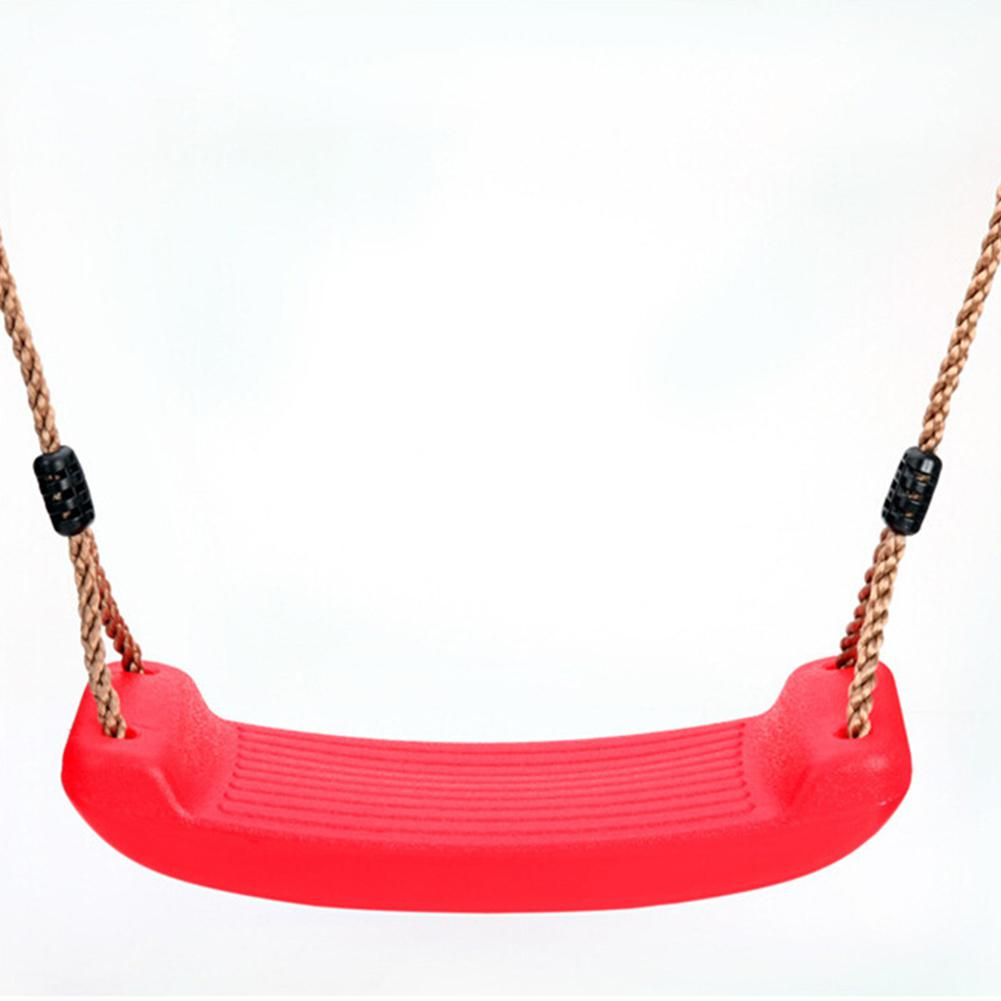 None Kid Indoor Outdoor Play Game Toy Swing Seat Set Plastic Hard Bending Plate Chair and Rope