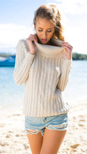 Loose Knitted Women Sweater Long Sleeve Female Pullover Winter Halter Long-sleeved High-necked Sweater Es1066