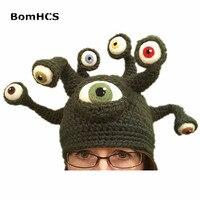 BomHCS Bestia Nowością Octopus Pasożytniczych Beanie Handmade Crochet Hat męska Winter Warm Cap Party Prezent