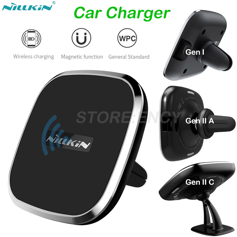 NILLKIN QI Wireless Charger Pad Car Charger For Samsung Galaxy Note 8 S8 S9+ Wireless Charging Phone Holder for iPhone X 8 PlusNILLKIN QI Wireless Charger Pad Car Charger For Samsung Galaxy Note 8 S8 S9+ Wireless Charging Phone Holder for iPhone X 8 Plus