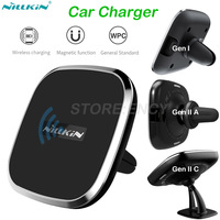 NILLKIN QI Wireless Charger Pad Car Charger For Samsung Galaxy Note 8 S8 S9+ Wireless Charging Phone Holder for iPhone X 8 Plus