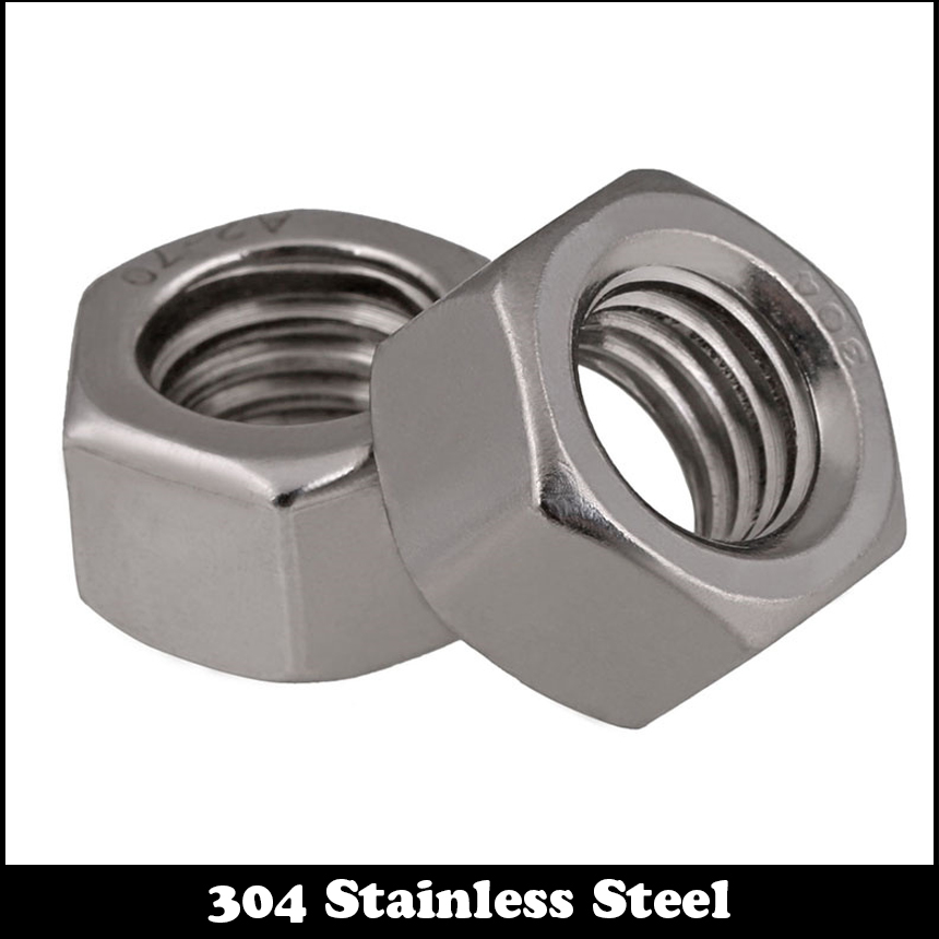 20pcs 1/4 1/4 Inch 1/4-20 201 304 Stainless Steel 201ss 304ss Nuts US Standard American Form Coarse Thread UNC Hex Hexagon Nut 1pcs 1 2 12 bsw thread 1 1 4 1 1 4 inch length 304 stainless steel bsw thread bolt unified hex hexagon screw