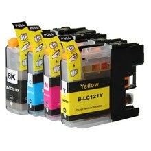 4X Compatible Ink Cartridges For Brother LC121 Cartridge Set DCP J552DW J752DW MFC J470DW J650DW Inkjet