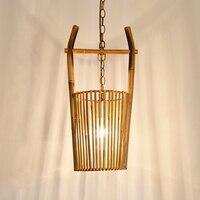 The original Pendant Lights restaurant dining room garden teahouse handmade bamboo lamp art creative Pendant Lamps LU724209