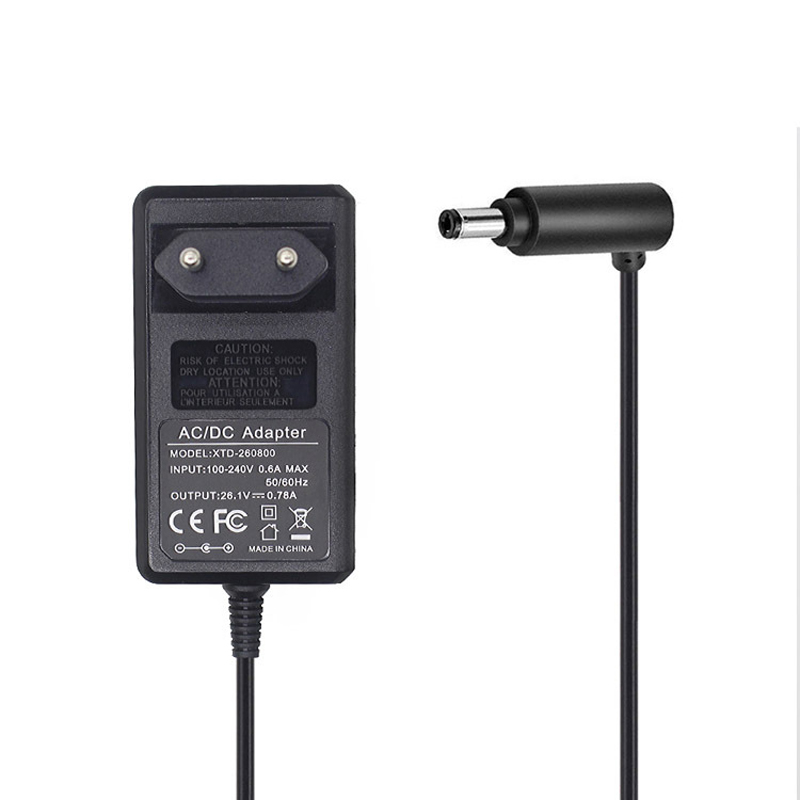 EU plug Charging Adapter DC 26.1V/0.78A for Dyson V8 V7 V6 DC58 DC59 DC61 DC62 DC74 Vacuum Cleaner Power Charger Replacements