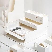 Набор ABS настольный офисный ящик для хранения файлов, лотки для документов, настольный органайзер, офисный набор