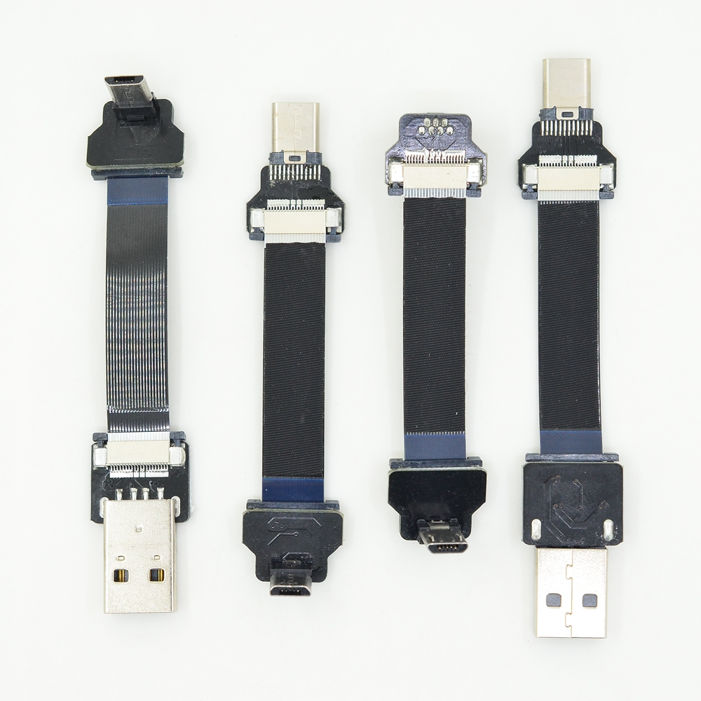 FFC USB 3.1 Type-c Cable FPV Flat Slim Thin Ribbon FPC Cable Micro USB 90 Degree To USB For FPV Brushless Handheld Gimbal Servo
