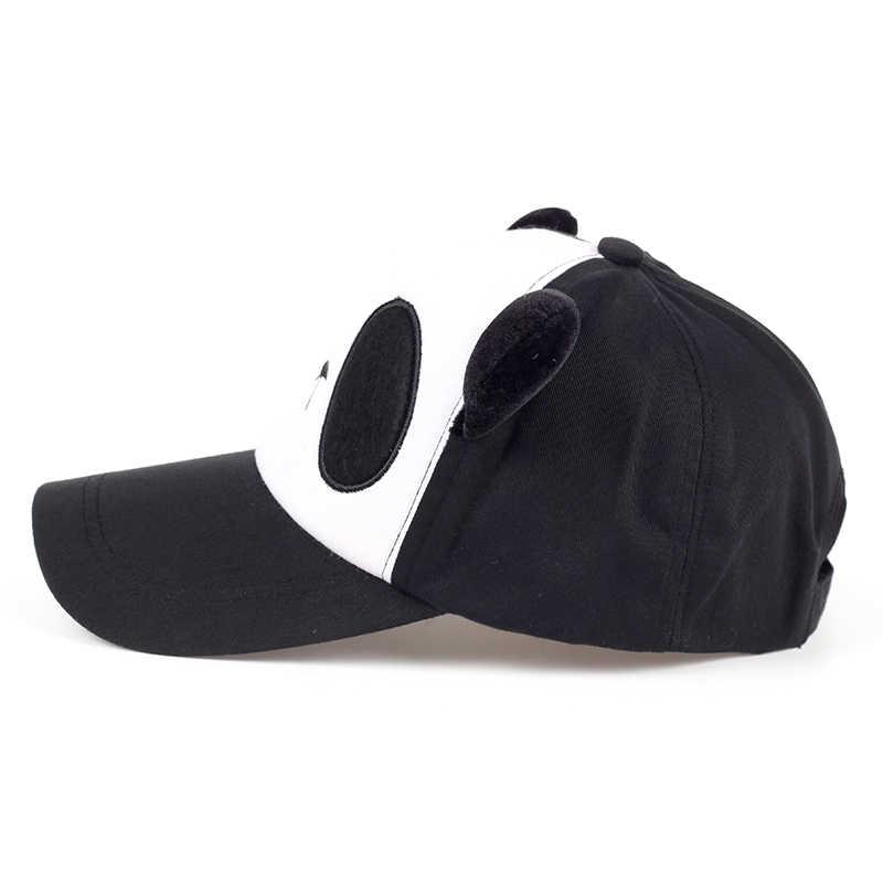 Nette Mädchen Panda Baseball cap Einstellbar Baumwolle Frauen Hysterese Hüte Schöne Dame hüte Nette Student Panama Hohe qualität drop schiff