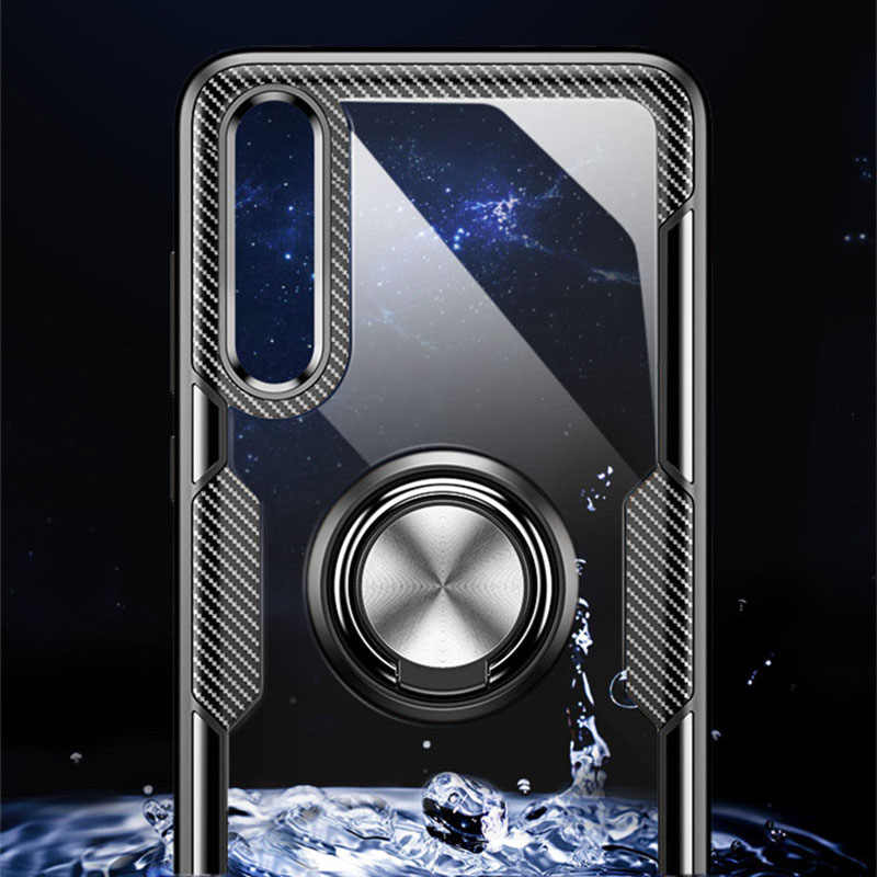 Hybrid สำหรับ Huawei MTAE 20 Pro Lite X 360 โลหะแม่เหล็กผู้ถือแหวนนิ้วมือนุ่ม TPU กันชน hard PC ปกหลัง