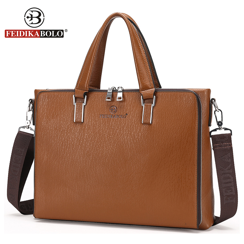 FEIDIKA BOLO Brand Bag Men Leather Briefcases Men Leather Laptop Bag Men Messenger Bags maletin hombre Business Man Briefcase yupinxuan genuine leather briefcases men real leather messenger bags business laptop bag lawyer brief cases maletin chile