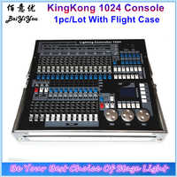 1pc/Lot DMX KingKong 1024 Console 1024 Stage Light Controller Beam Moving Head Light Consoles With Flight Case