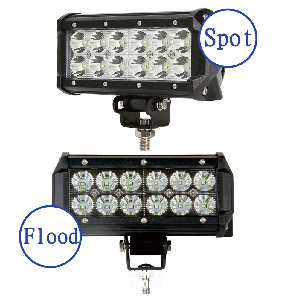 ФОТО 1PCS 36W 3600LM with Cree LED Chips Work Light Spot Flood For Off Roda 4x4 Motorcycle Boat ATV Truck Tractor 4WD Fog Lamp D15