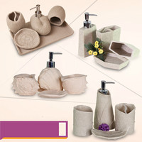 Resin Bathroom Accessories 4pcs in 1 set European Rome Aristocracy Bath Sets Lotion Dispenser Bath Resin Cup Toothbrush Holder