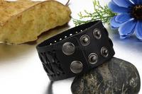 2017 акция широкий подлинной коричневый/черная кожа плетеный браслет для женщин мужские обруча браслет размеры регулируемый