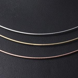 Image 2 - سلسلة قلادة كلاسيكية عالية الجودة مصنوعة يدويًا من الفضة الإسترليني 925 على شكل زهرة اللوتس المرحة مجوهرات فاخرة للسيدات كولير Acessorios