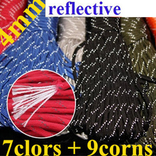 Reflective Paracord 550 100ft Glowing Rope Luminous Parachute Lanyard Accessories For Outdoor Camping Equipment Survival